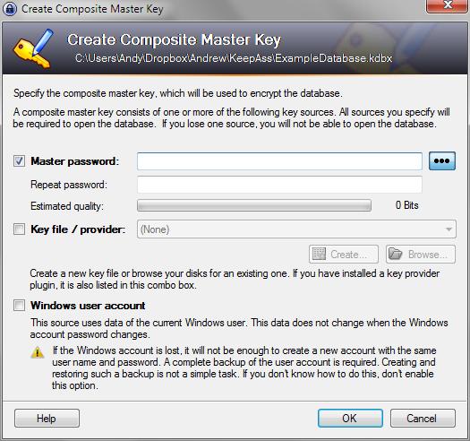 Screenshot of KeePass